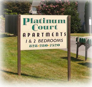 Apartment Sign